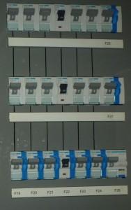 Hauptverteilung Sicherungsautomaten