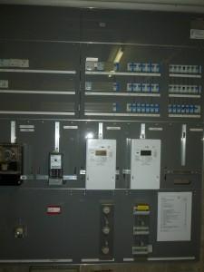 Hauptverteilung mit Stromzähler